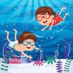 Imparare a nuotare al centro estivo!